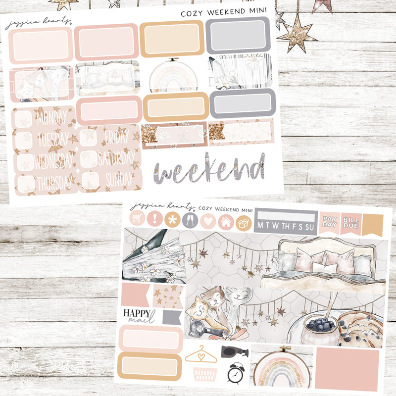 Cozy Weekend MINI Sticker Kit