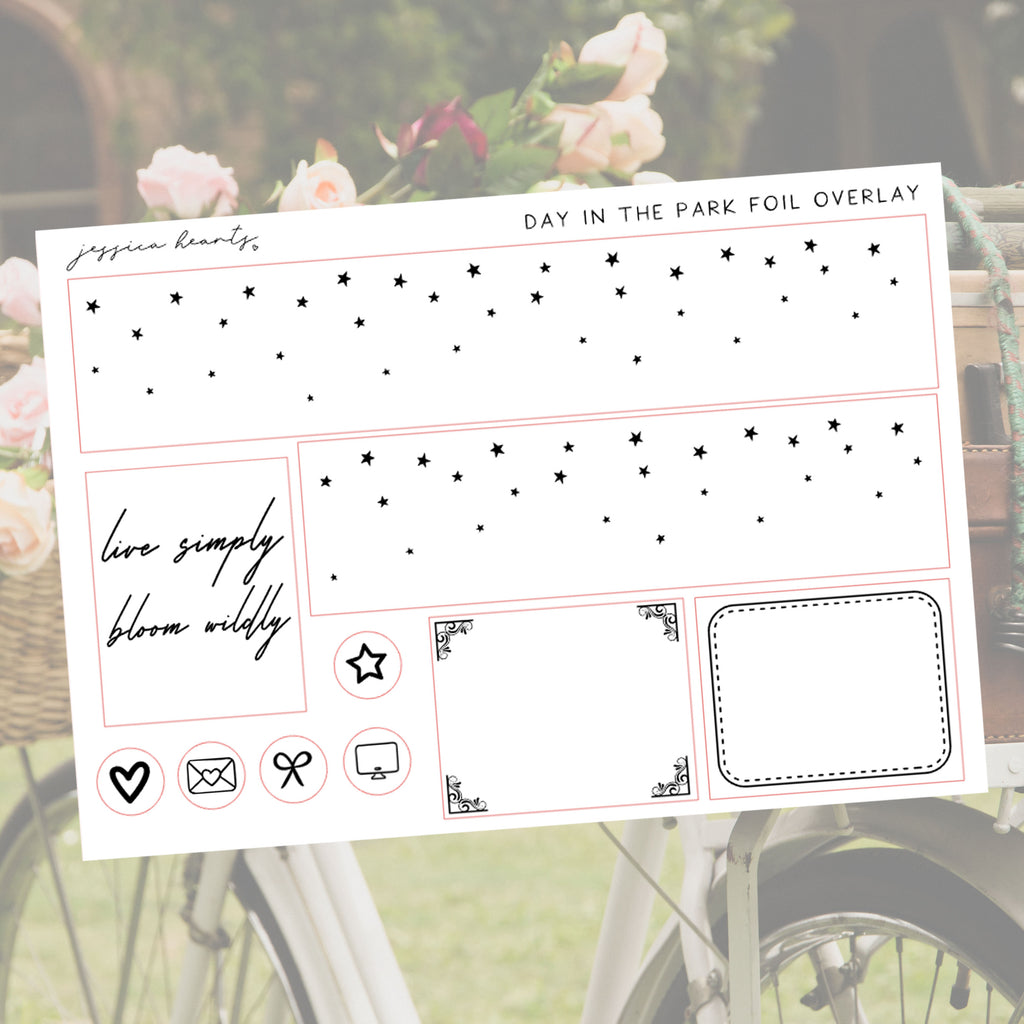 Day in the Park Foil Overlay Sticker Sheet (Transparent)