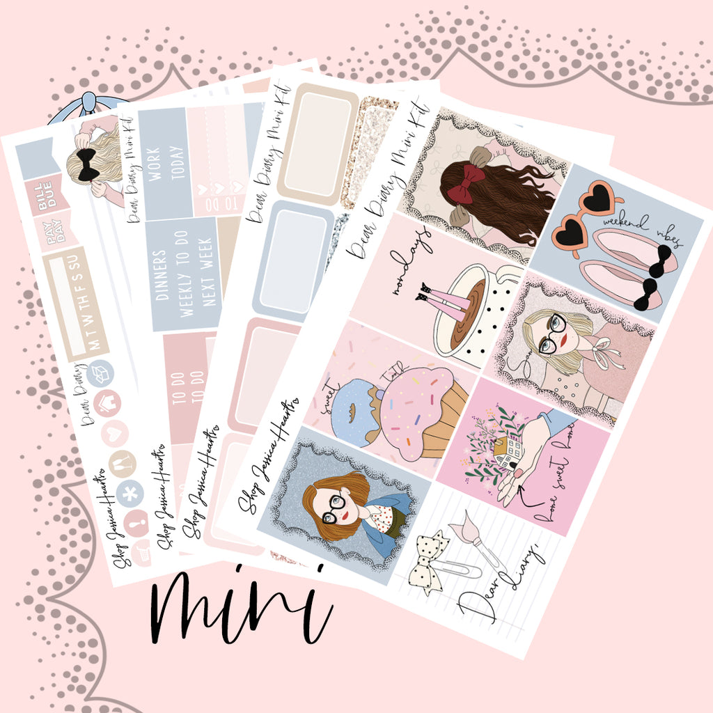Dear Diary Mini Sticker Kit (NEW FORMAT)