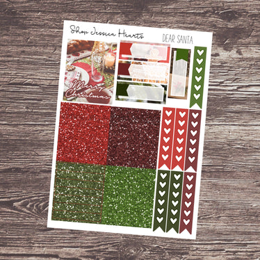 Dear Santa Ultimate Sheet, planner stickers - Jessica Hearts