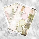 Dream Catcher August Notes Page Kit, planner stickers - Jessica Hearts