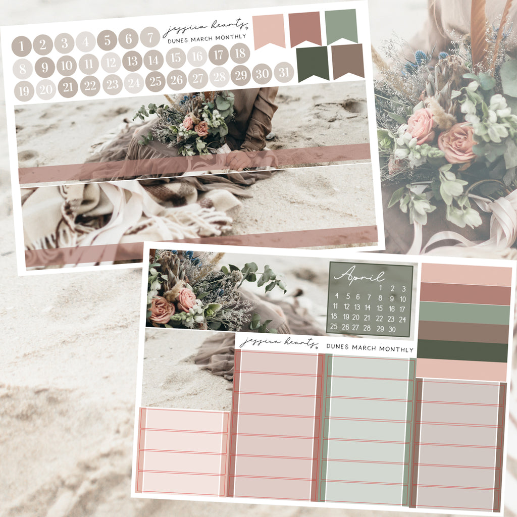 Dunes BLANK March 2021 Monthly Kit + Foil Overlay