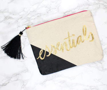 Foiled Essentials Pouch, stationery - Jessica Hearts