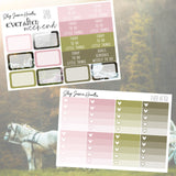 Ever After Weekly Sticker Kit, planner stickers - Jessica Hearts