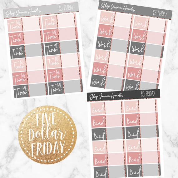 Five Dollar Friday #19, planner stickers - Jessica Hearts