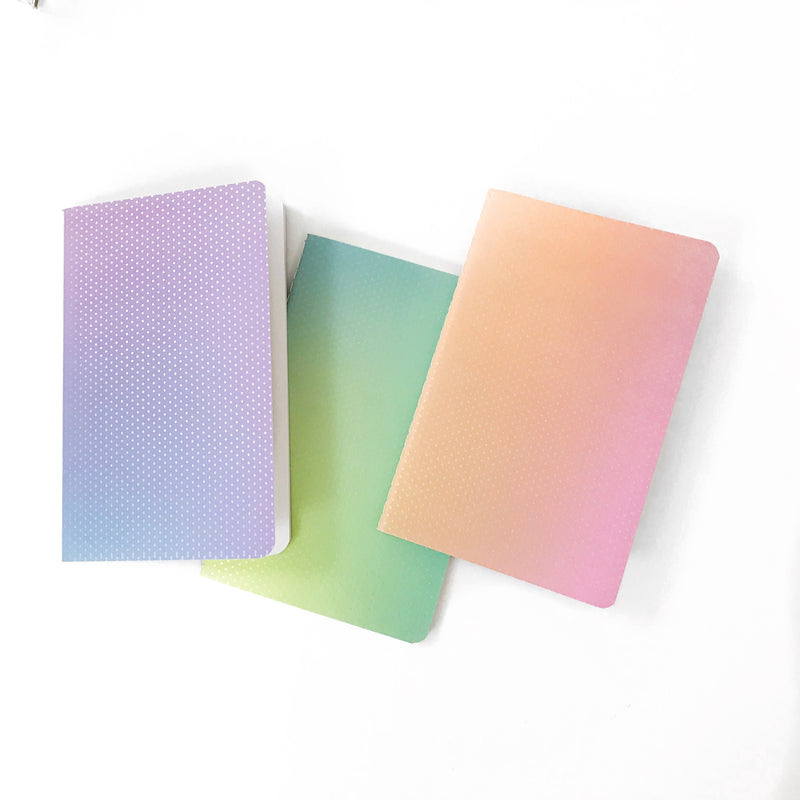 Ombre Iridescent Notebooks (Set of 3)