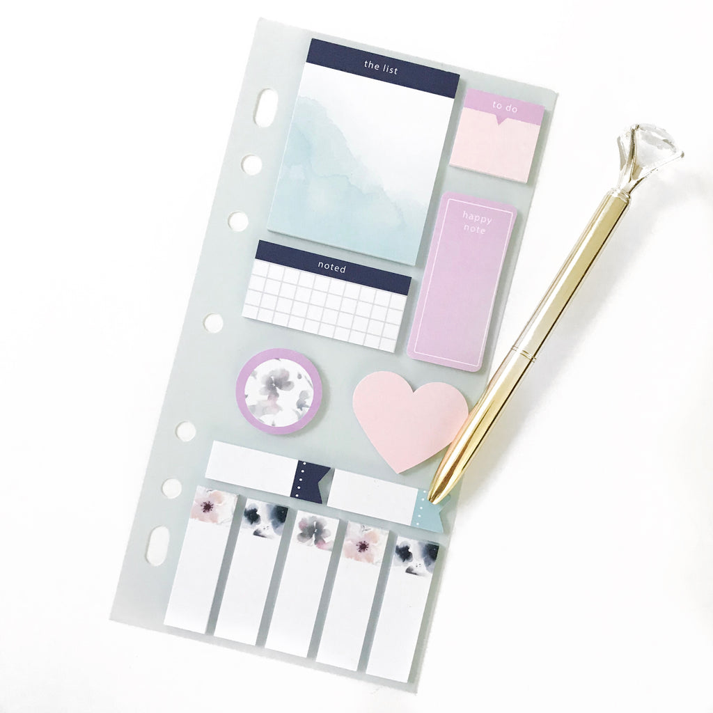 Watercolor Sticky Notes Set