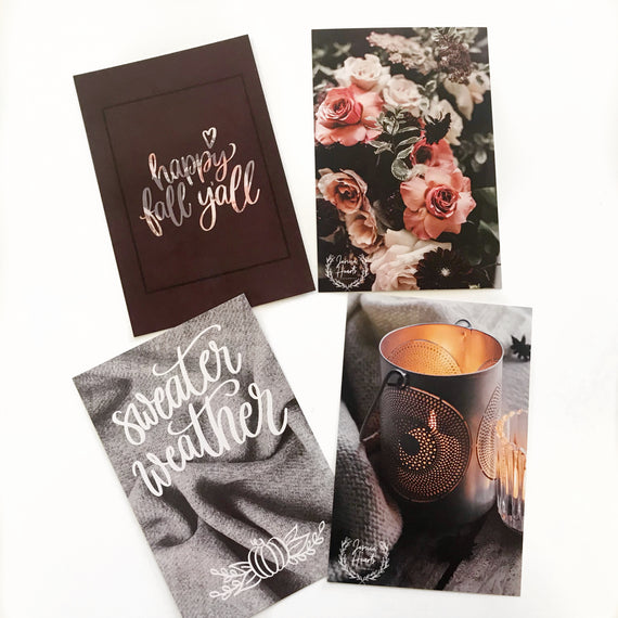 Fall Journaling Cards,  - Jessica Hearts