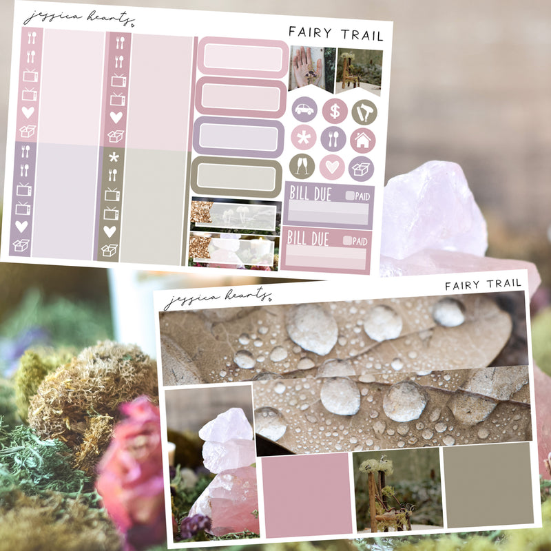 Fairy Trail Weekly Sticker Kit