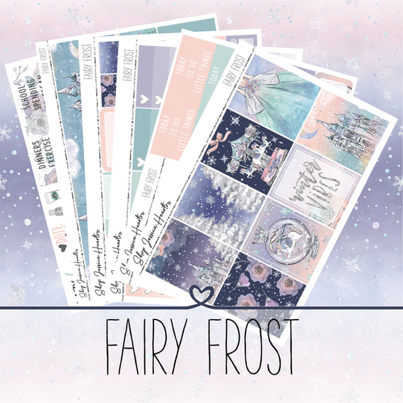 Fairy Frost Weekly Sticker Kit, stickers - Jessica Hearts