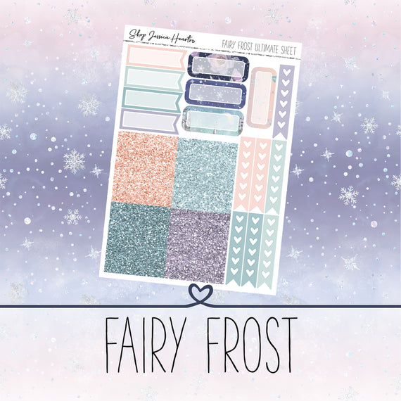 Fairy Frost Ultimate Sheet, planner stickers - Jessica Hearts