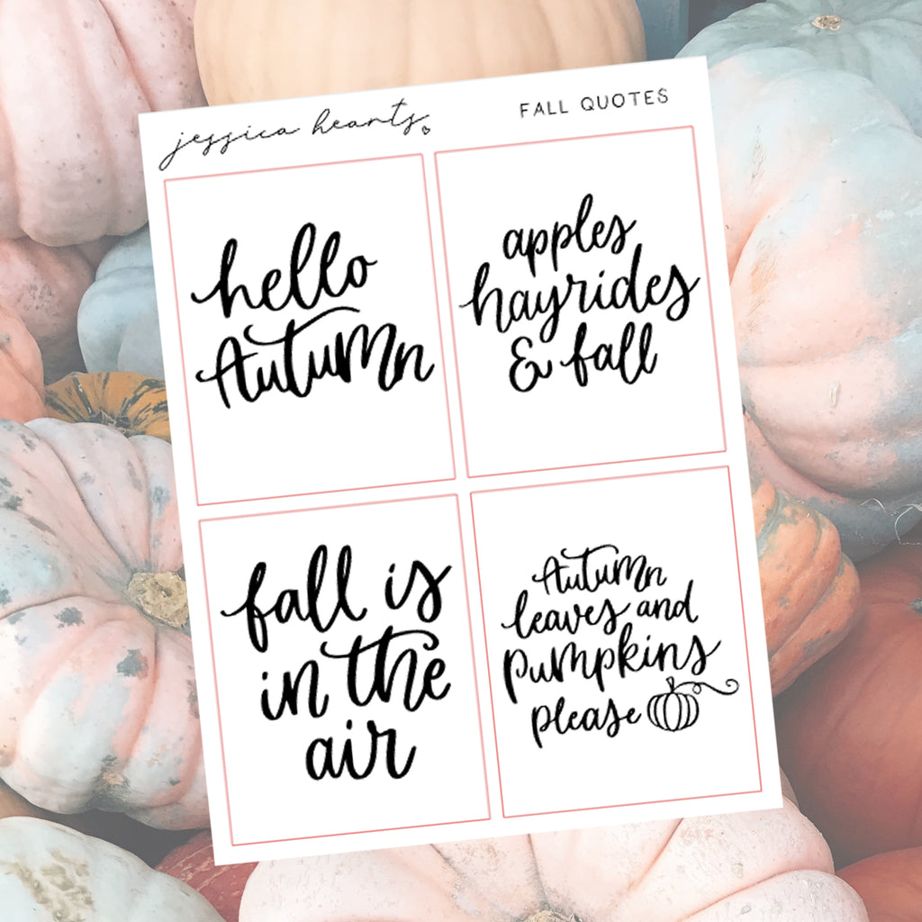 Fall Foil Quotes Quarter Sheet