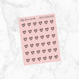Foiled Pink Heart Stickers (Limited Edition)