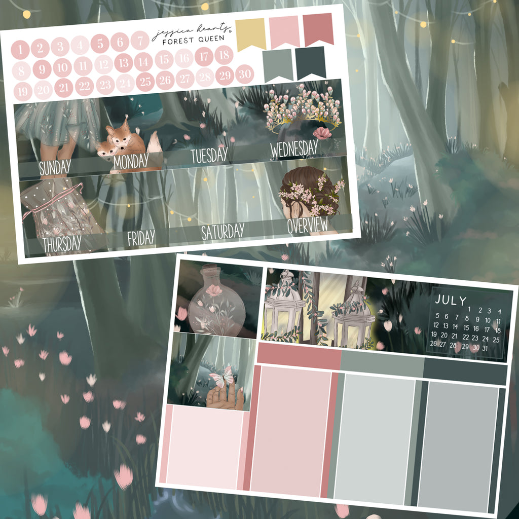 Forest Queen BLANK June 2020 Monthly Kit + Foil Overlay