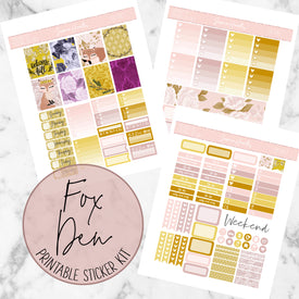 Fox Den Printable Sticker Kit (Download),  - Jessica Hearts