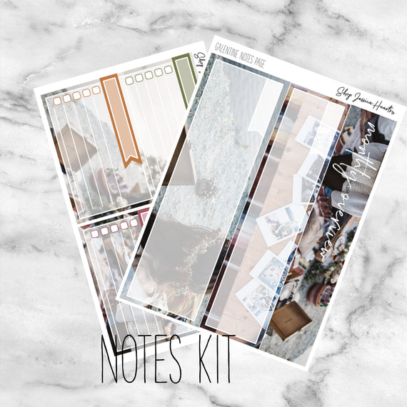 Galentine February Notes Page Kit, Monthly/Notes Kits - Jessica Hearts