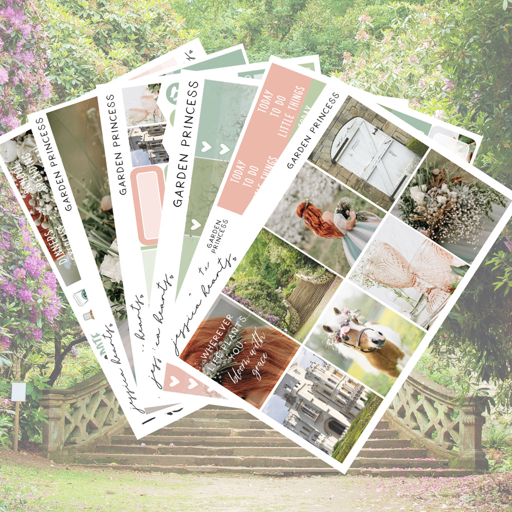 Garden Princess Weekly Sticker Kit