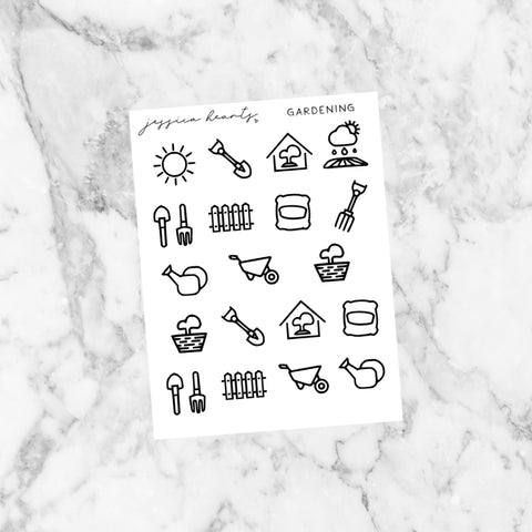 Foil Phone Baby Icon Stickers (Transparent)