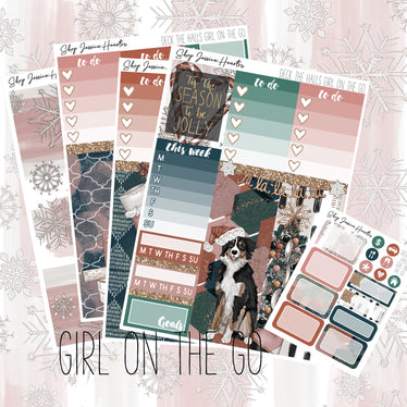 Deck the Halls (Girl On the Go Planner Sticker Kit),  - Jessica Hearts