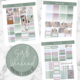 Girls Weekend Printable Sticker Kit (Download),  - Jessica Hearts