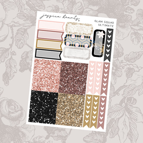 Glam Squad Weekly Sticker Kit