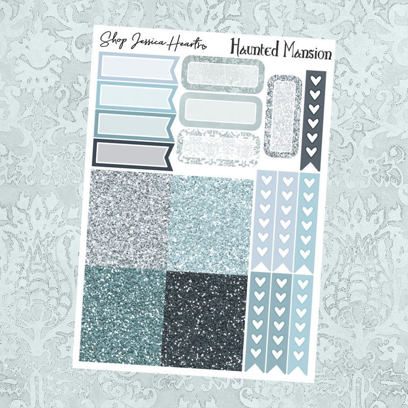 Haunted Mansion Ultimate Sheet, planner stickers - Jessica Hearts