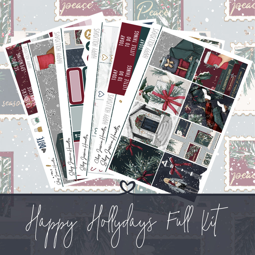 Happy Hollydays Weekly Sticker Kit,  - Jessica Hearts