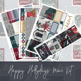 Happy Hollydays Mini Weekly Sticker Kit