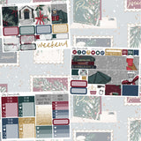 Happy Hollydays Mini Weekly Sticker Kit,  - Jessica Hearts