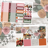 Harvest Wishes Weekly Sticker Kit, stickers - Jessica Hearts