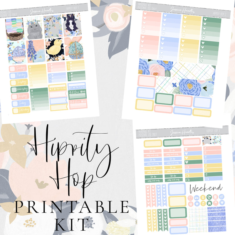 Hippity Hop Printable Sticker Kit (Download)