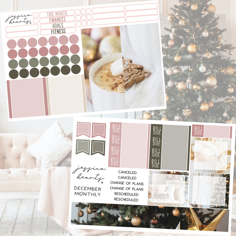 Holiday Dreams BLANK December 2020 Monthly Kit + Foil Overlay