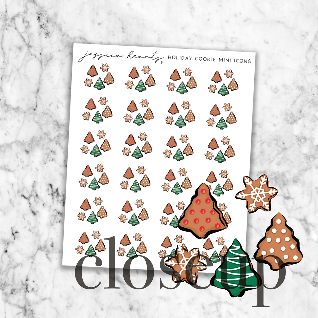 Holiday Cookie Mini Icons (Transparent Matte Paper)