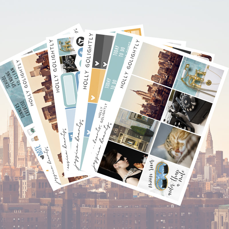 Holly Golightly Weekly Sticker Kit