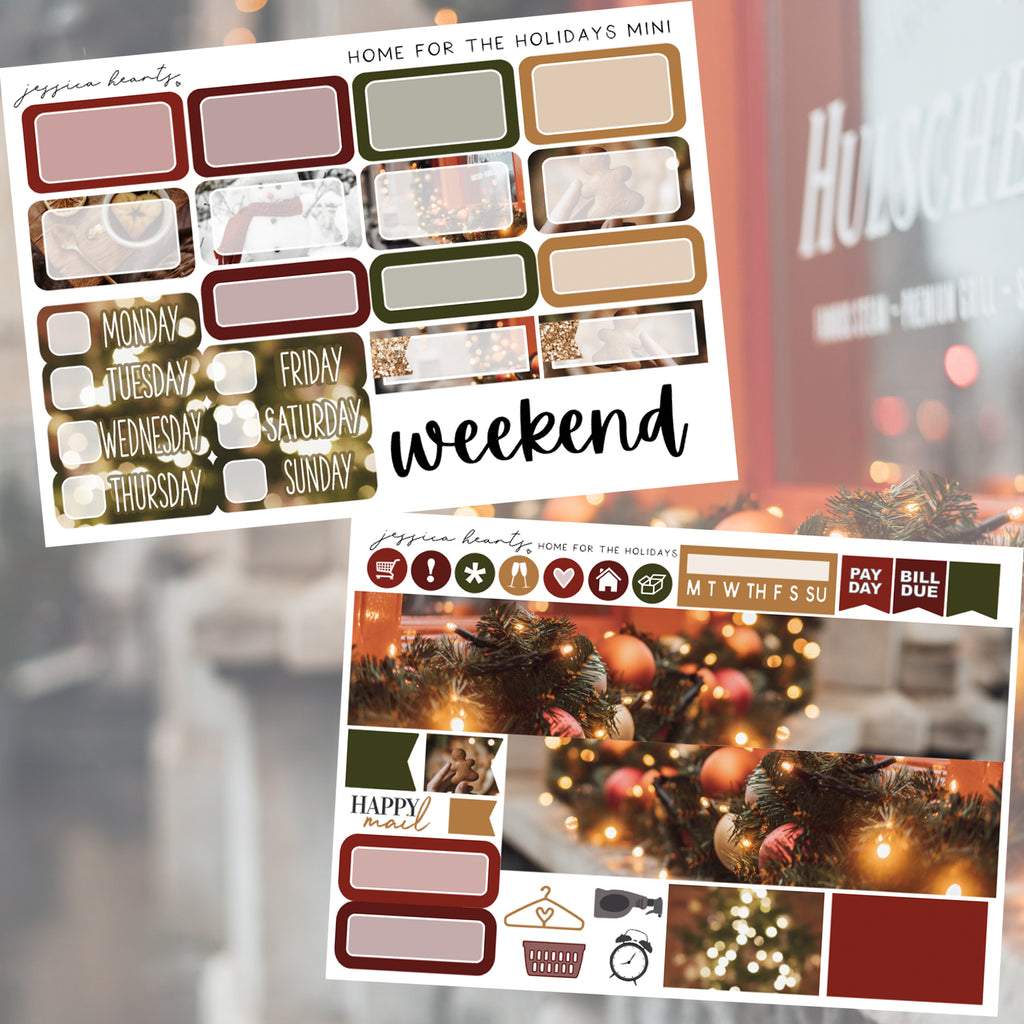 Home for the Holidays MINI Sticker Kit