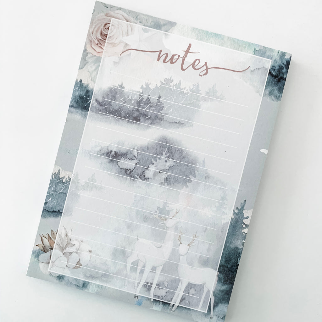 Winter Box Notepad