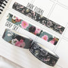 Floral Hearts Foil Washi Tape Limited Edition