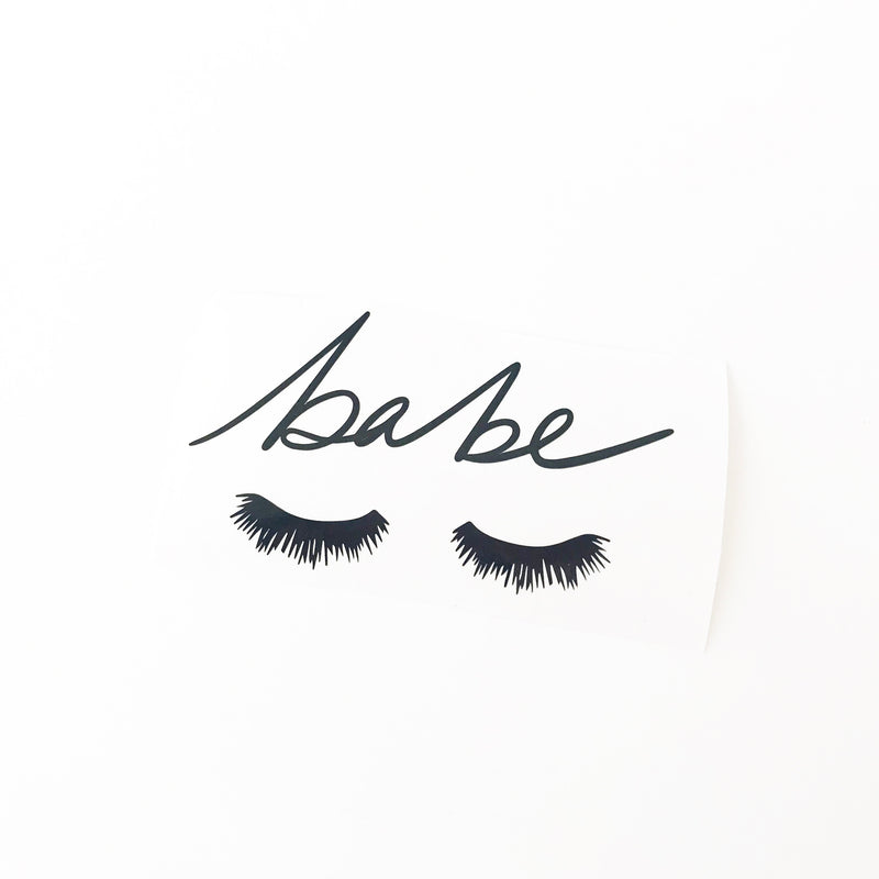 NEW Babe Eyelash Vinyl Decal (2 font choices!)