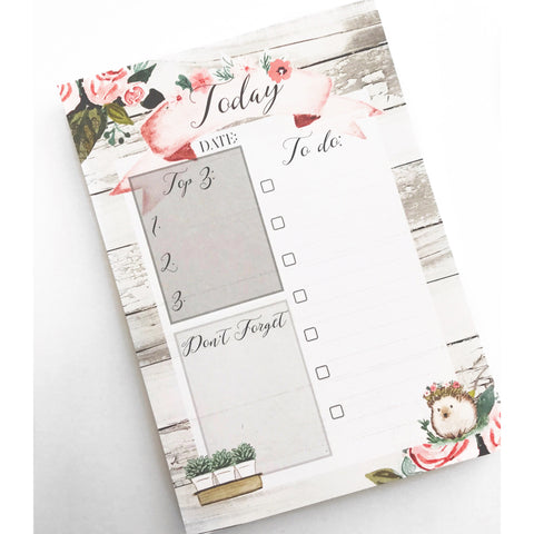 Twilight Floral To Do Notepad