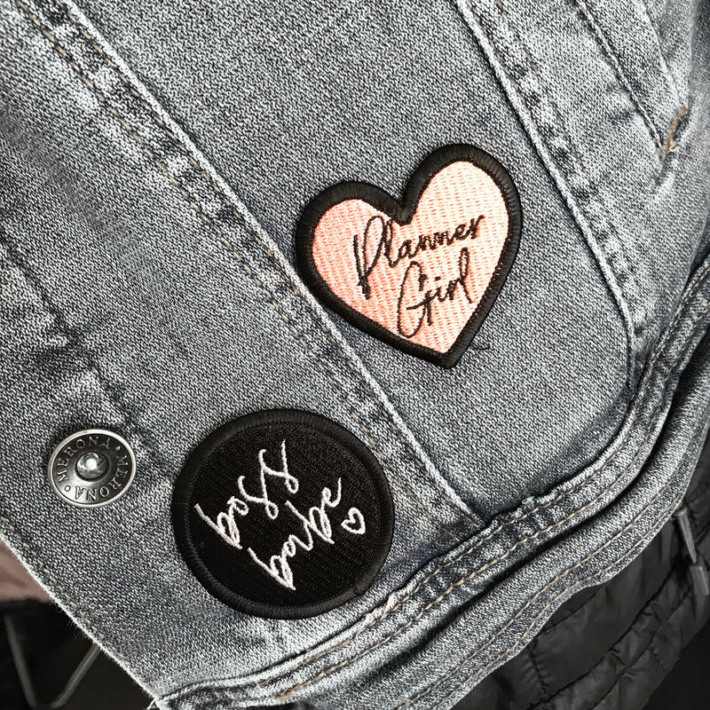 Boss Babe & Planner Girl Patches Limited Edition,  - Jessica Hearts