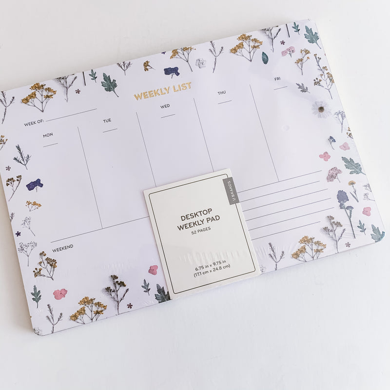 Floral Desktop Week Notepad