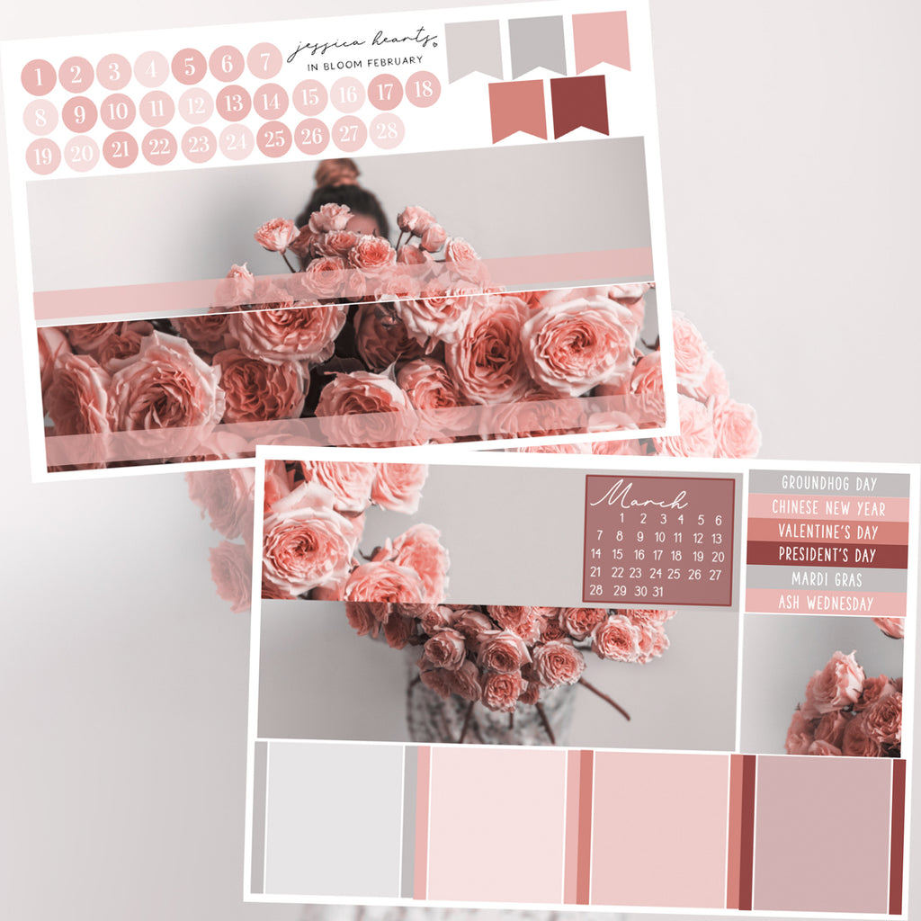 In Bloom BLANK February 2021 Monthly Kit + Foil Overlay