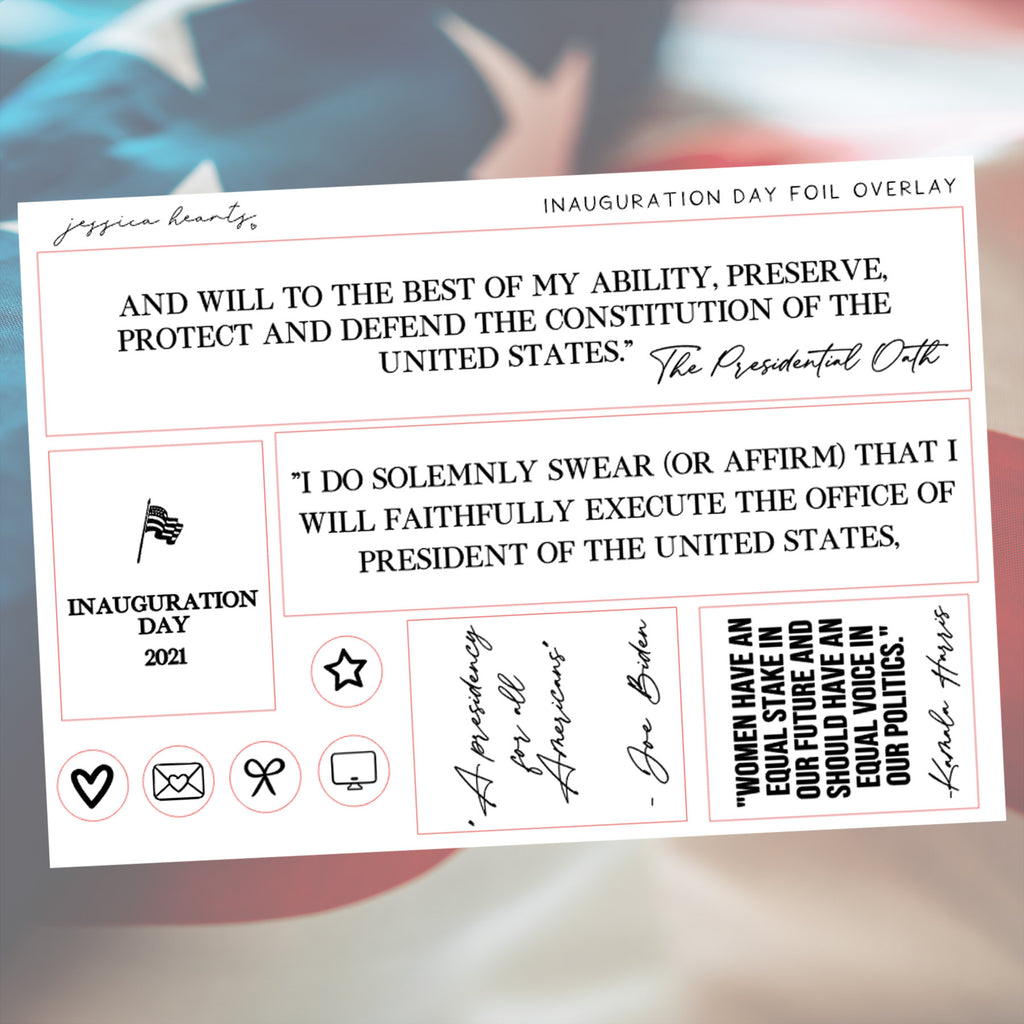 Inauguration Day Foil Overlay Sticker Sheet (Transparent)