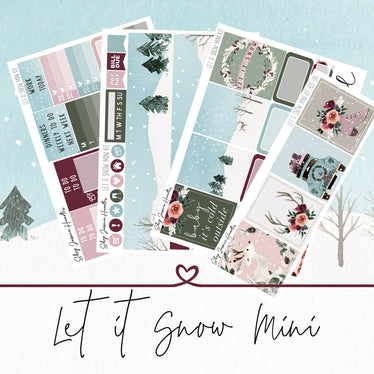 Let it Snow Mini Weekly Sticker Kit,  - Jessica Hearts