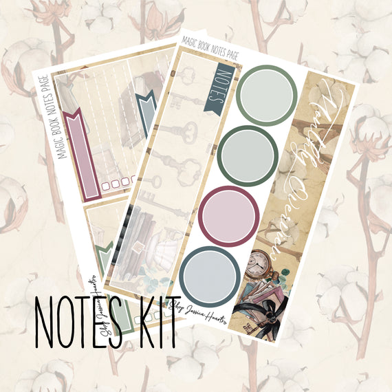 Magic Book November Notes Page Kit, Monthly/Notes Kits - Jessica Hearts