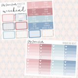 Manhattan Nights Weekly Sticker Kit, stickers - Jessica Hearts