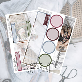 Merlot Mood Notes Page Kit