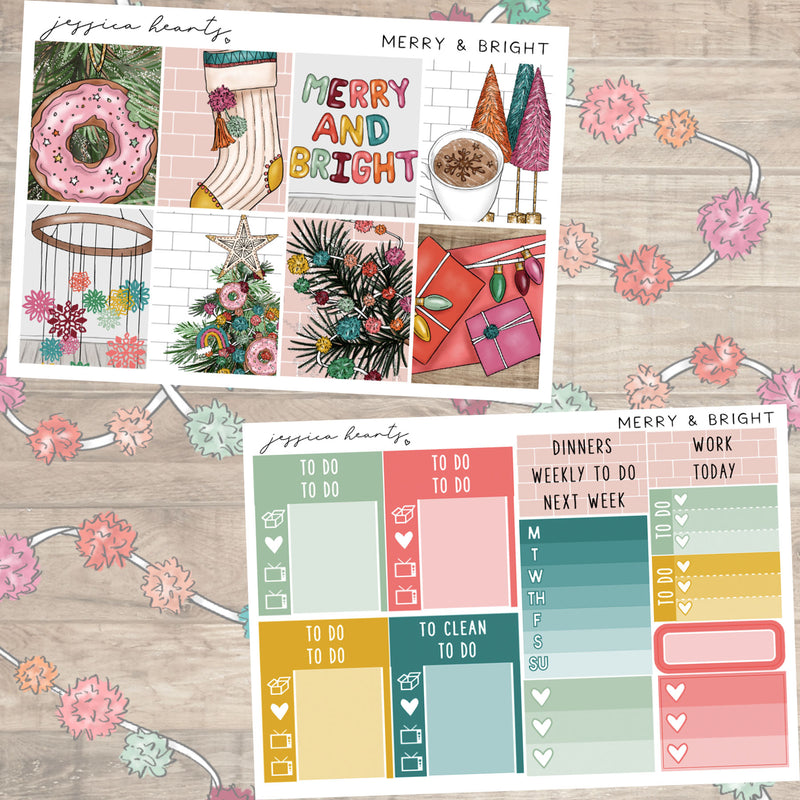 Merry & Bright  MINI Sticker Kit