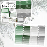 Minimalist Holiday Weekly Sticker Kit,  - Jessica Hearts