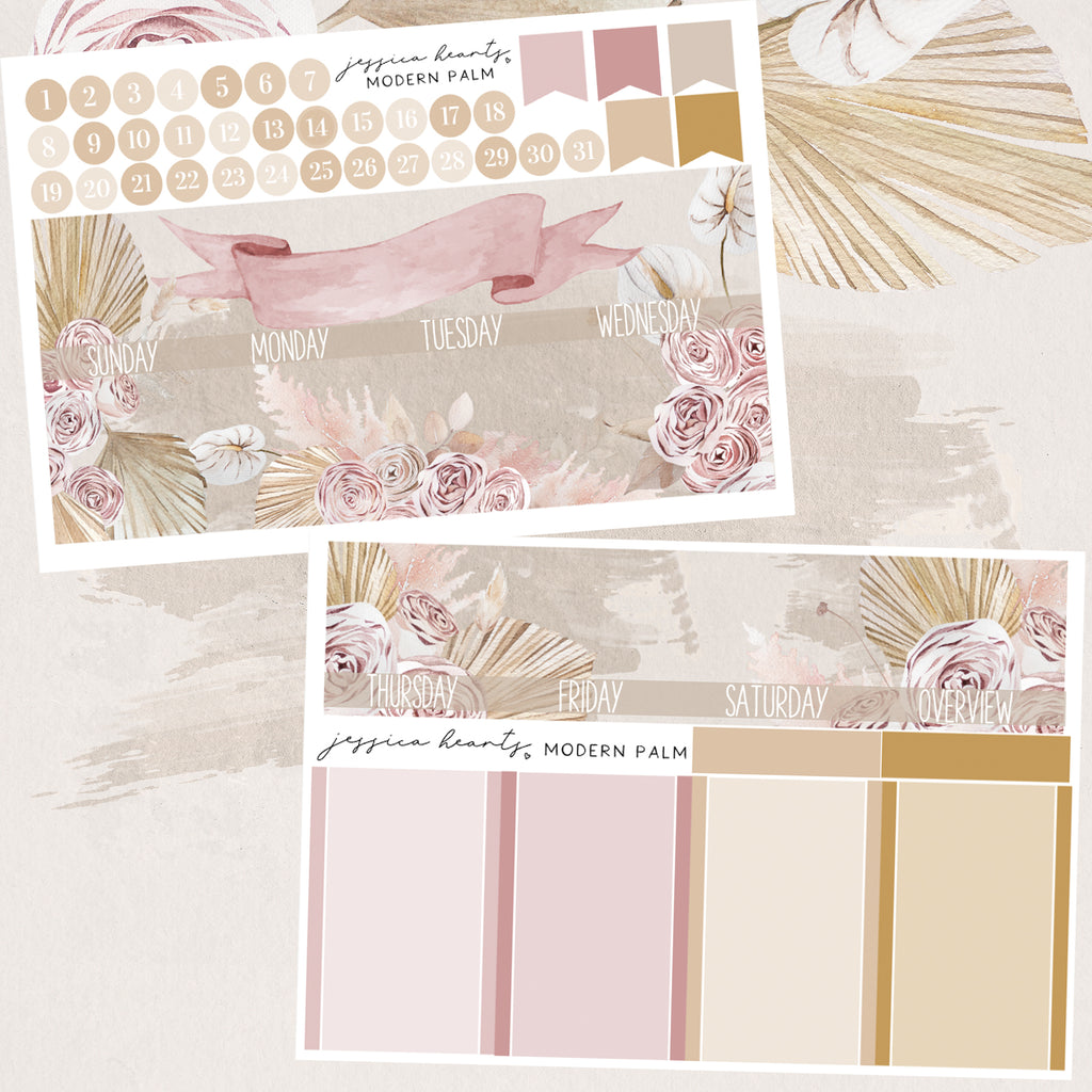 Modern Palm BLANK August 2020 Monthly Kit + Foil Overlay